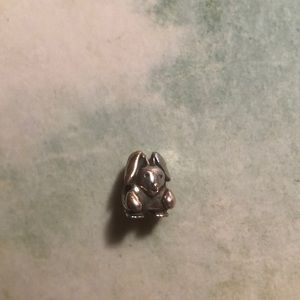 Discontinued! Pandora sterling silver bunny rabbit